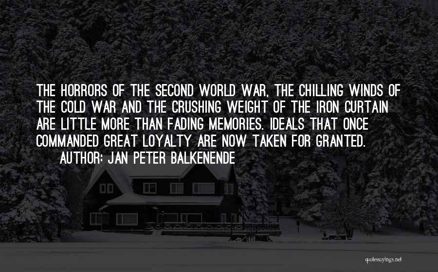Horrors Of War Quotes By Jan Peter Balkenende