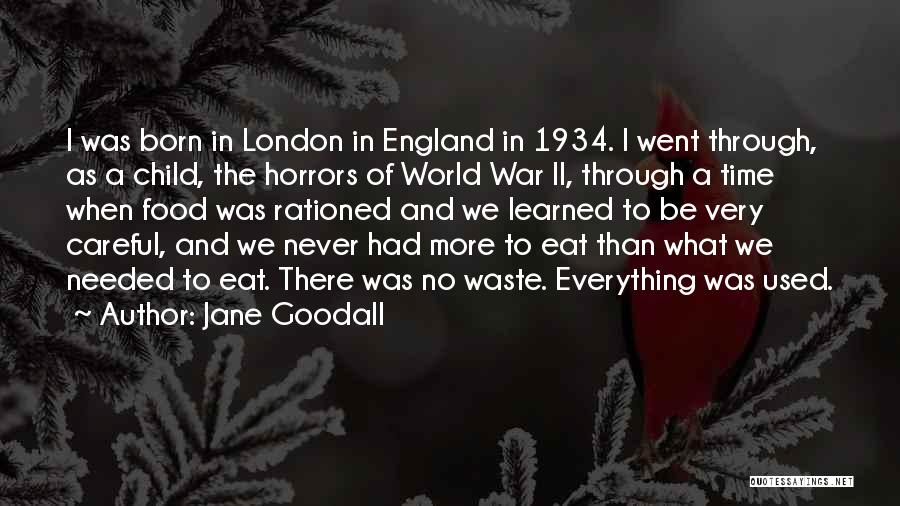 Horrors Of War Quotes By Jane Goodall