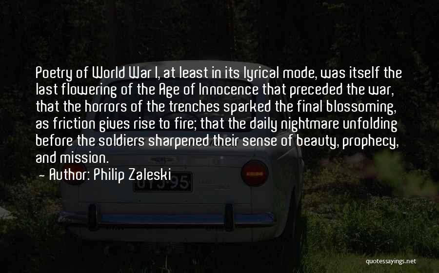 Horrors Of War Quotes By Philip Zaleski