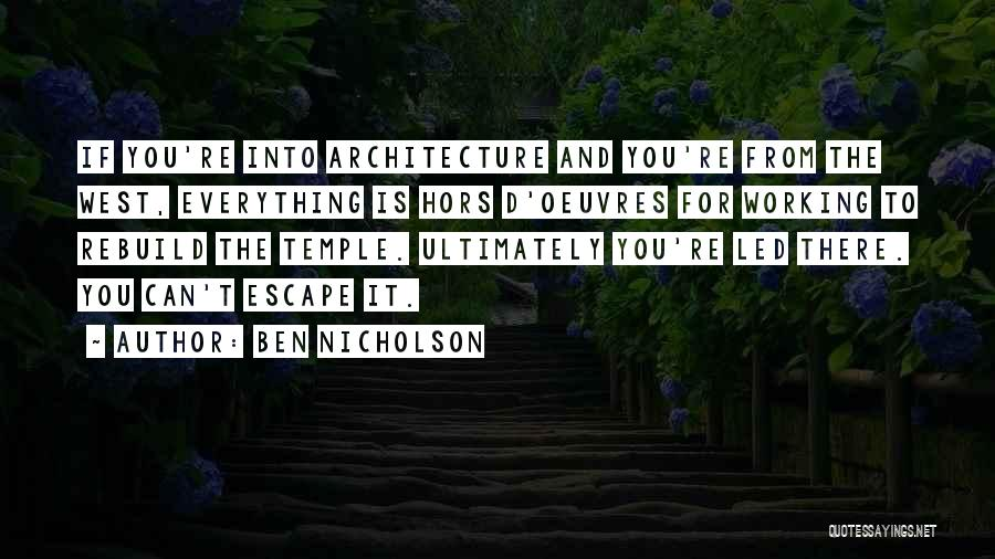 Hors D'oeuvre Quotes By Ben Nicholson