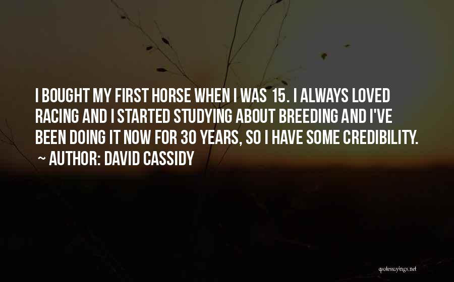 Horse Breeding Quotes By David Cassidy