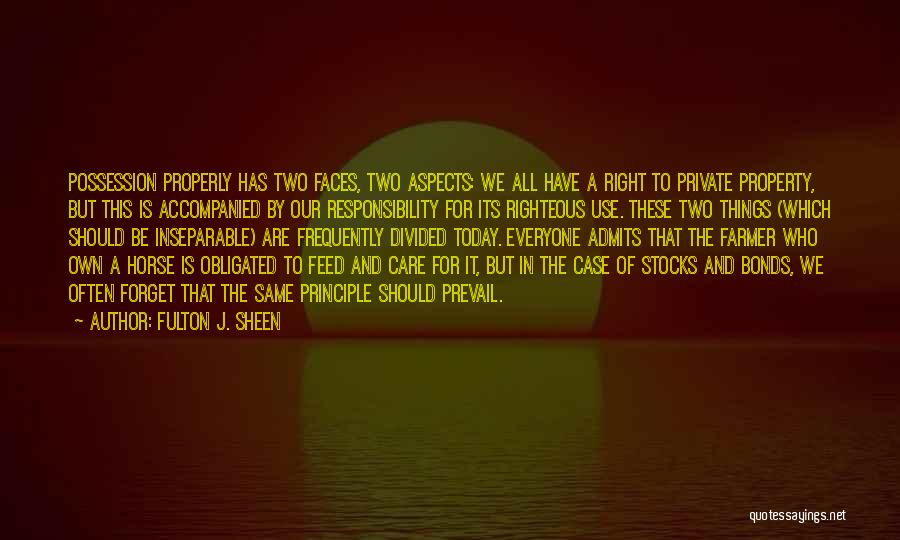 Horse Feed Quotes By Fulton J. Sheen