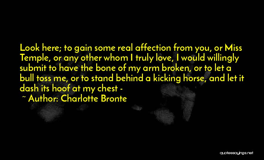 Horse Hoof Quotes By Charlotte Bronte