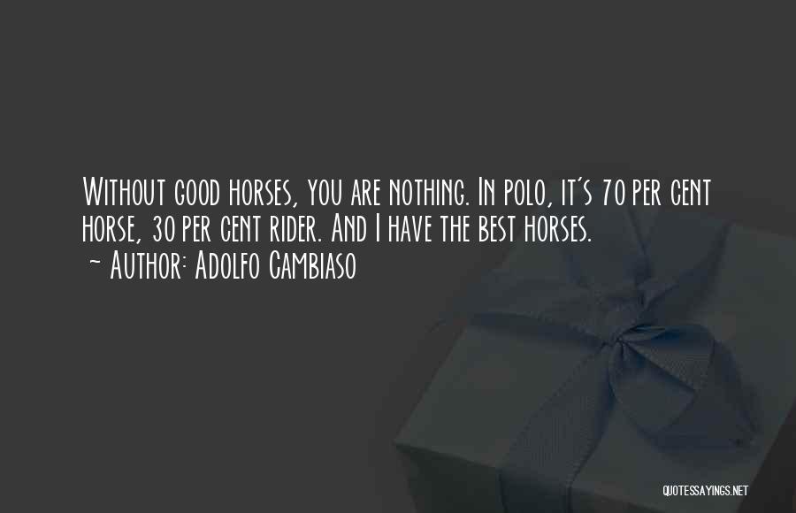 Horse Rider Quotes By Adolfo Cambiaso