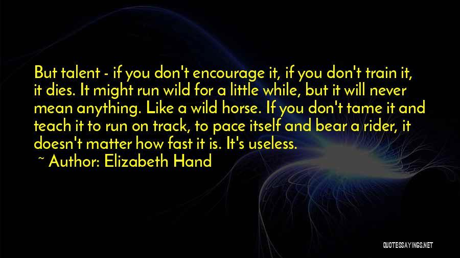 Horse Rider Quotes By Elizabeth Hand