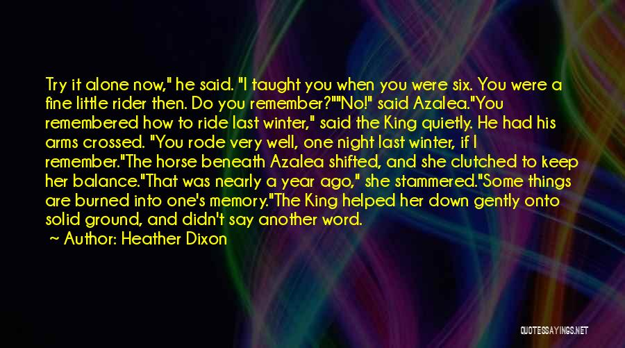 Horse Rider Quotes By Heather Dixon