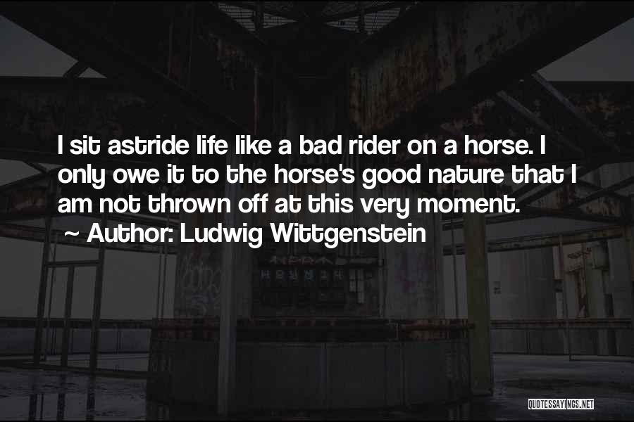 Horse Rider Quotes By Ludwig Wittgenstein