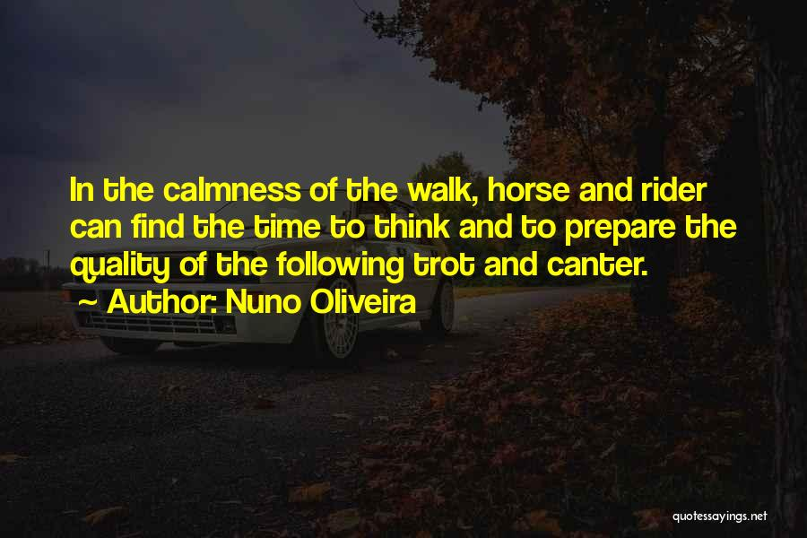 Horse Rider Quotes By Nuno Oliveira