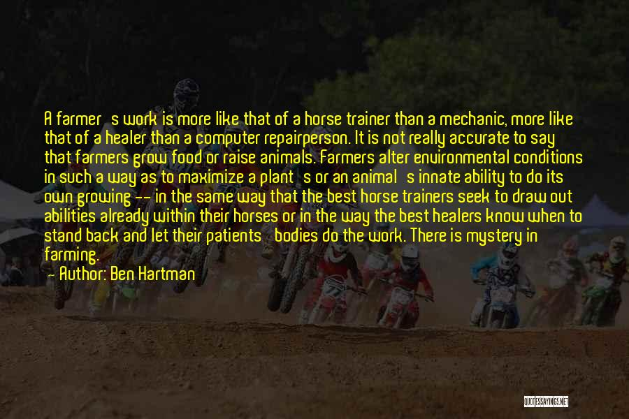 Horses And Quotes By Ben Hartman