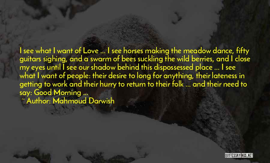 Horses And Quotes By Mahmoud Darwish