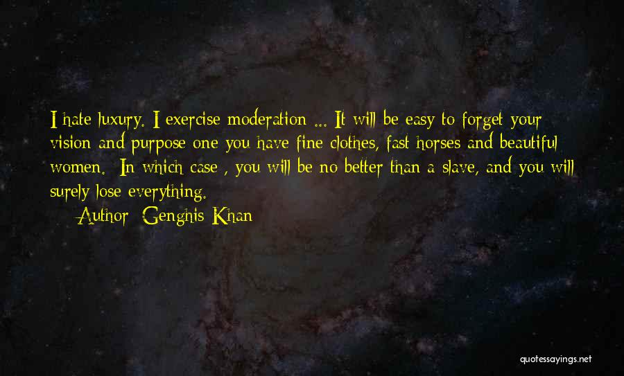 Horses Quotes By Genghis Khan