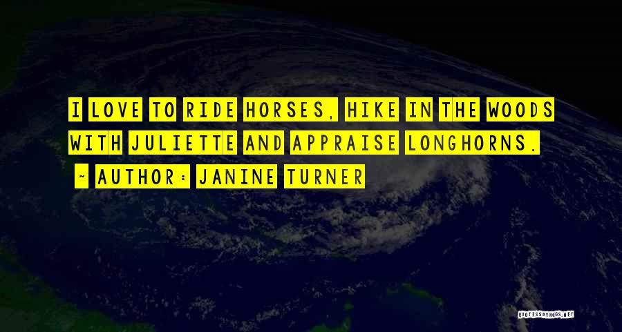 Horses Quotes By Janine Turner