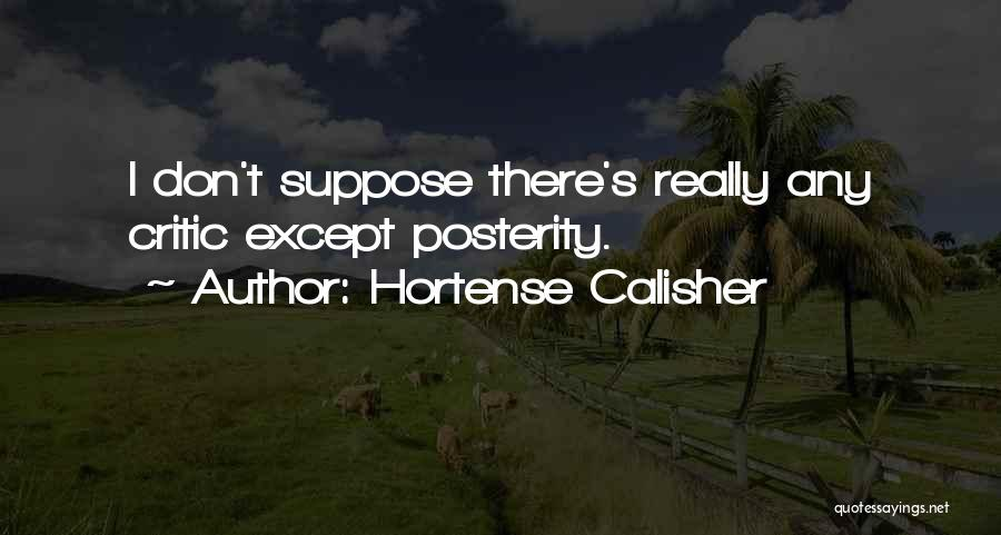 Hortense Calisher Quotes 1698974