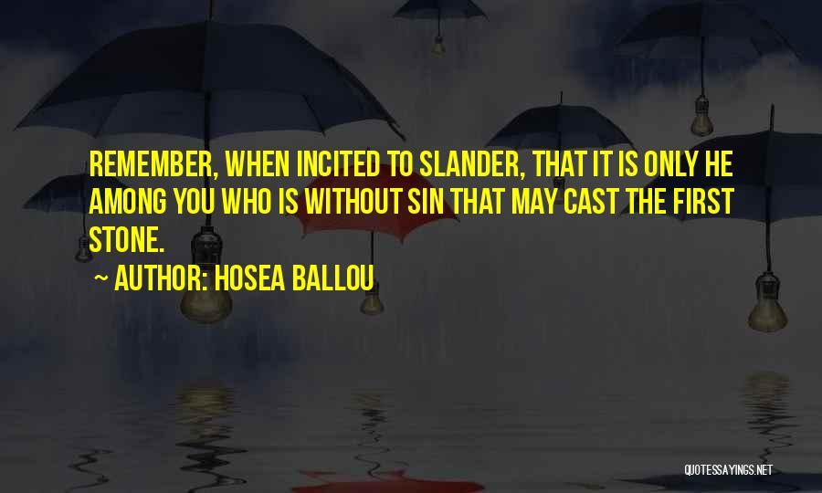 Hosea Ballou Quotes 100325