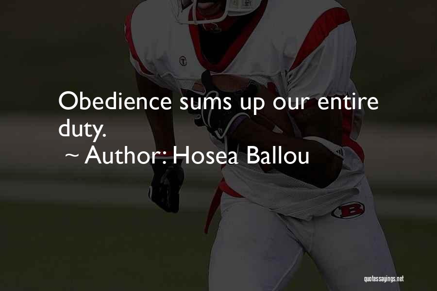 Hosea Ballou Quotes 1073118