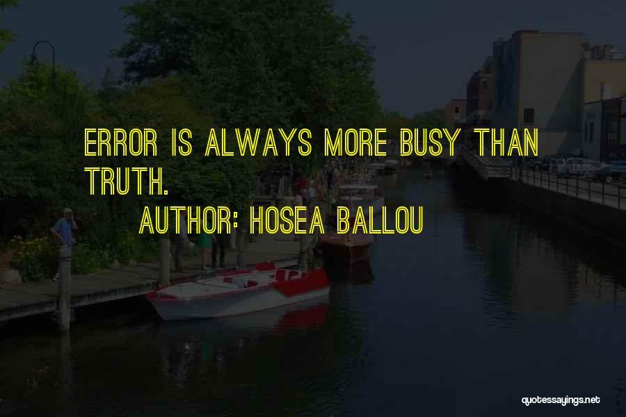 Hosea Ballou Quotes 1123951