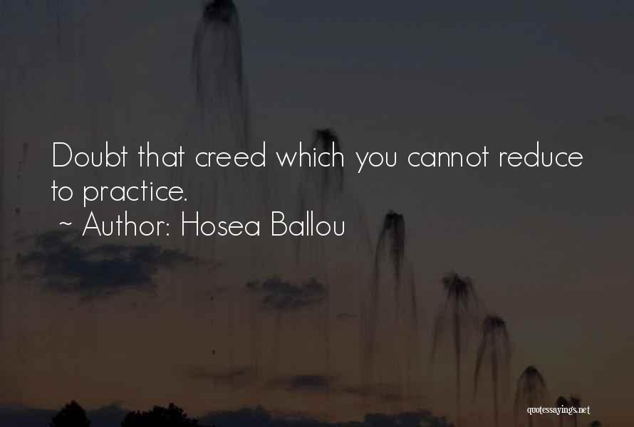 Hosea Ballou Quotes 1206346