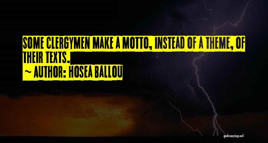 Hosea Ballou Quotes 1243271
