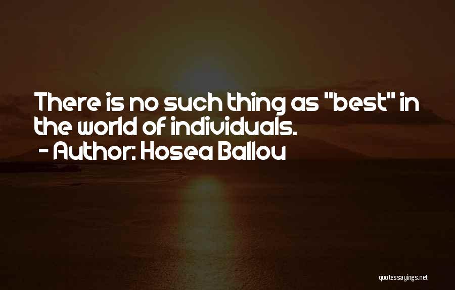 Hosea Ballou Quotes 1422958