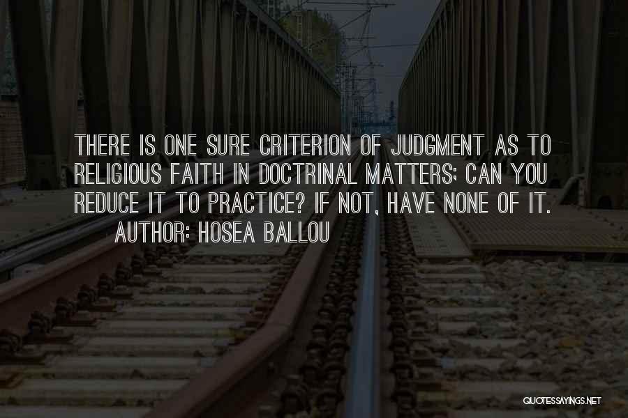 Hosea Ballou Quotes 1751532