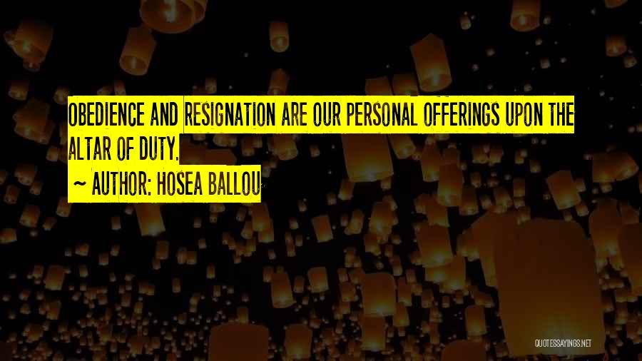 Hosea Ballou Quotes 1846555