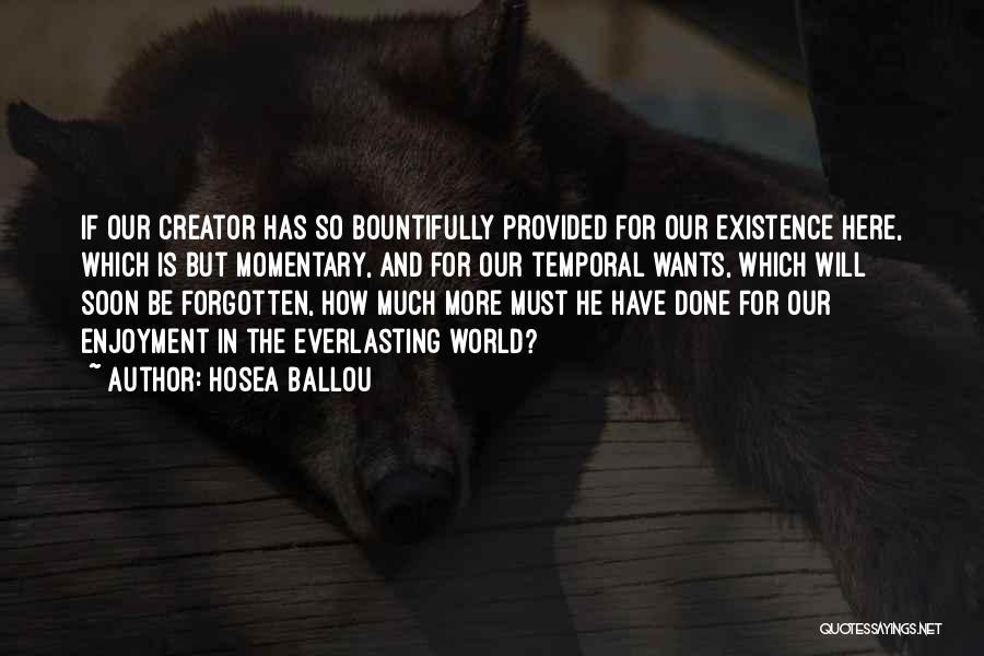 Hosea Ballou Quotes 347282