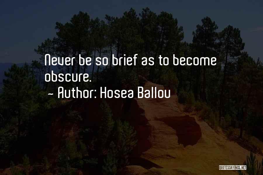 Hosea Ballou Quotes 513902