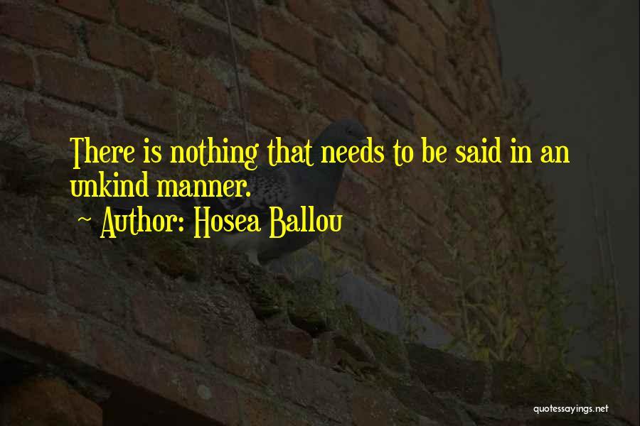 Hosea Ballou Quotes 634937