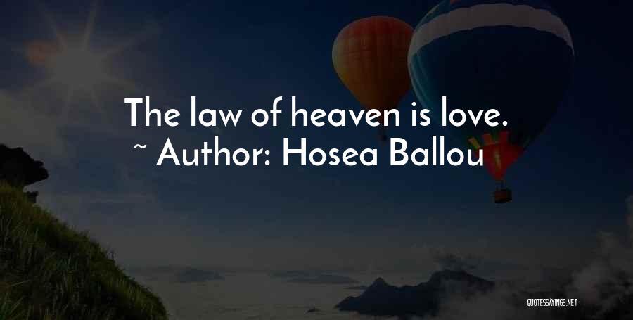 Hosea Ballou Quotes 976800