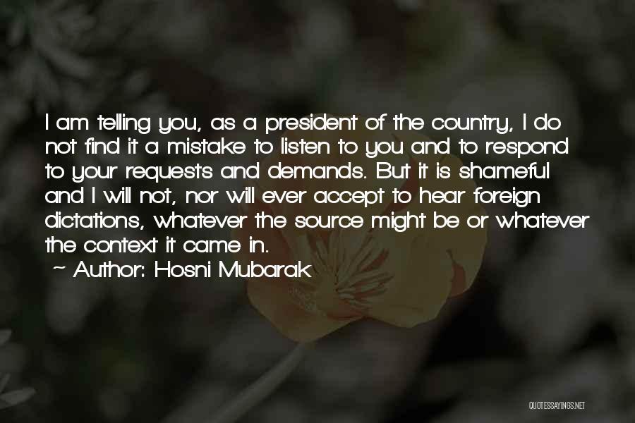 Hosni Mubarak Quotes 1354116