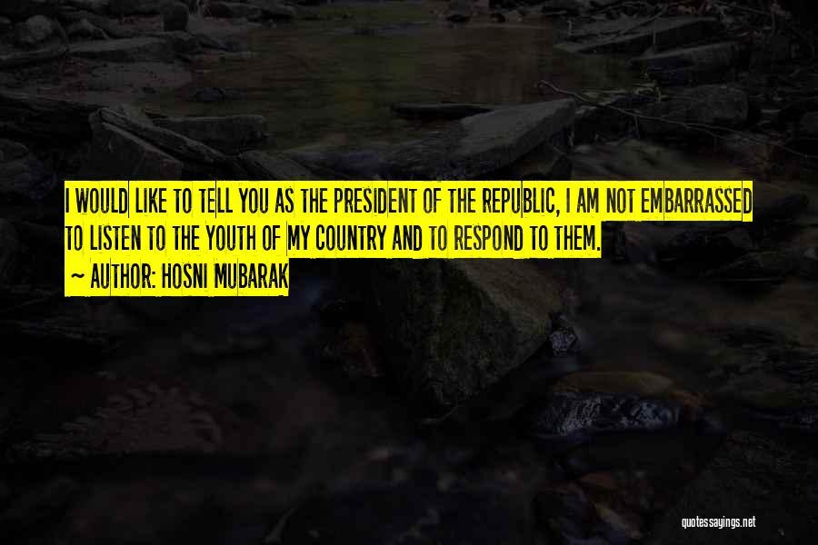 Hosni Mubarak Quotes 912537