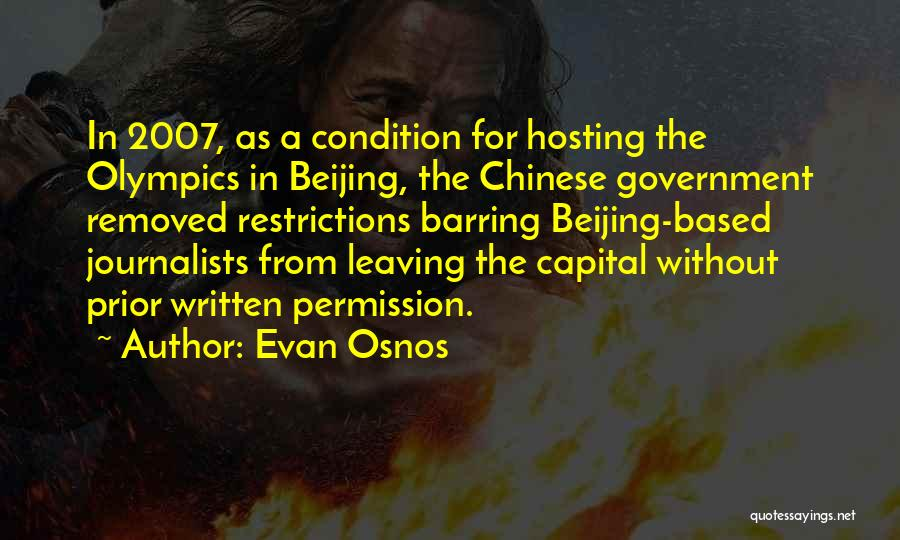 Hosting The Olympics Quotes By Evan Osnos
