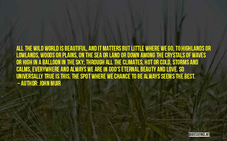 Hot And Beautiful Quotes By John Muir