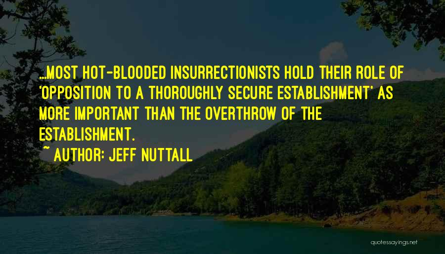 Hot Blooded Quotes By Jeff Nuttall