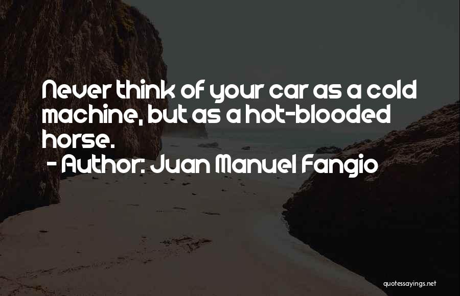 Hot Blooded Quotes By Juan Manuel Fangio