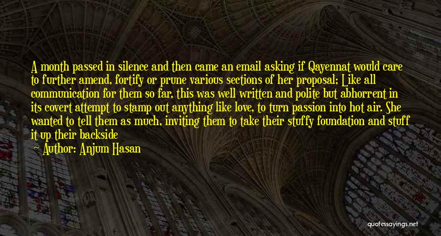 Hot Stuff Quotes By Anjum Hasan