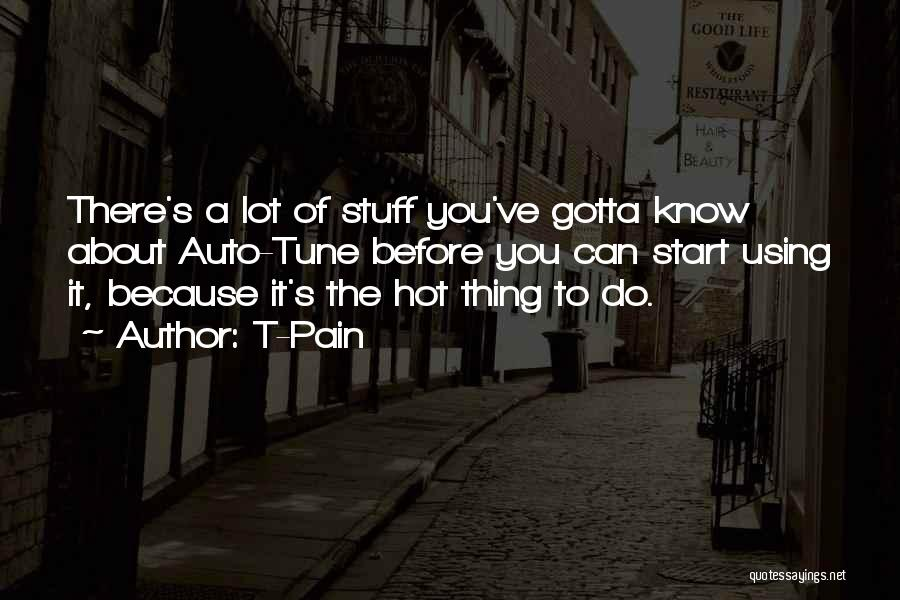 Hot Stuff Quotes By T-Pain