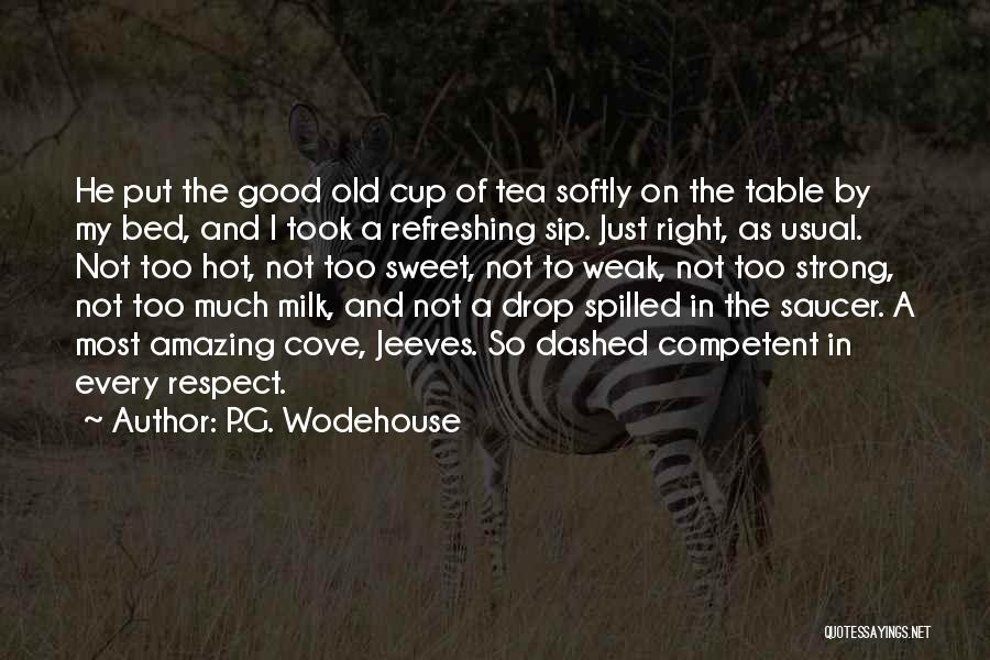 Hot Tea Quotes By P.G. Wodehouse