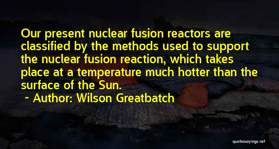 Hotter Than Your Ex Quotes By Wilson Greatbatch