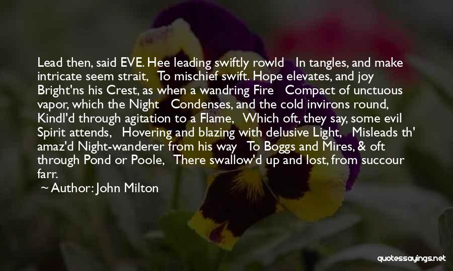 Hovering Quotes By John Milton