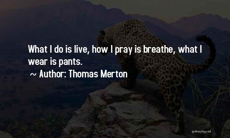 How Do I Breathe Quotes By Thomas Merton