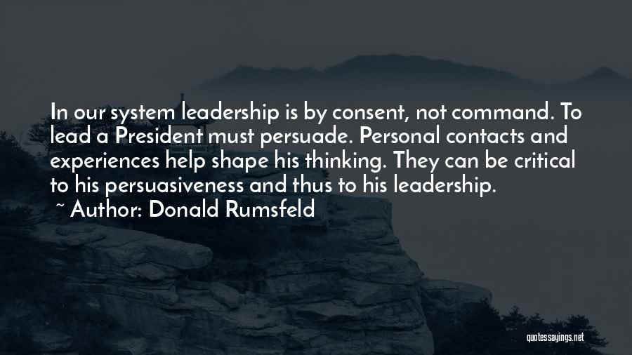 How Experiences Shape Us Quotes By Donald Rumsfeld
