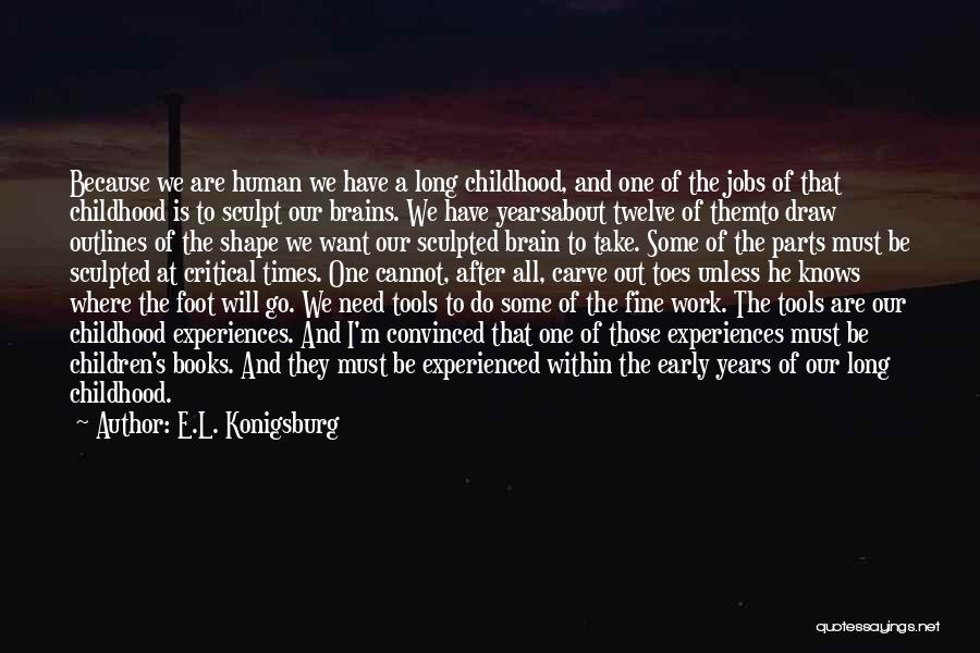 How Experiences Shape Us Quotes By E.L. Konigsburg
