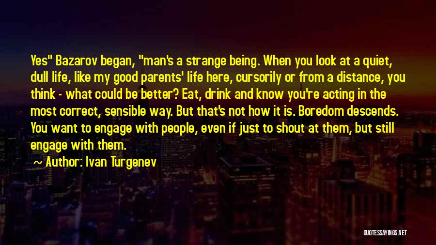 How Good You Look Quotes By Ivan Turgenev