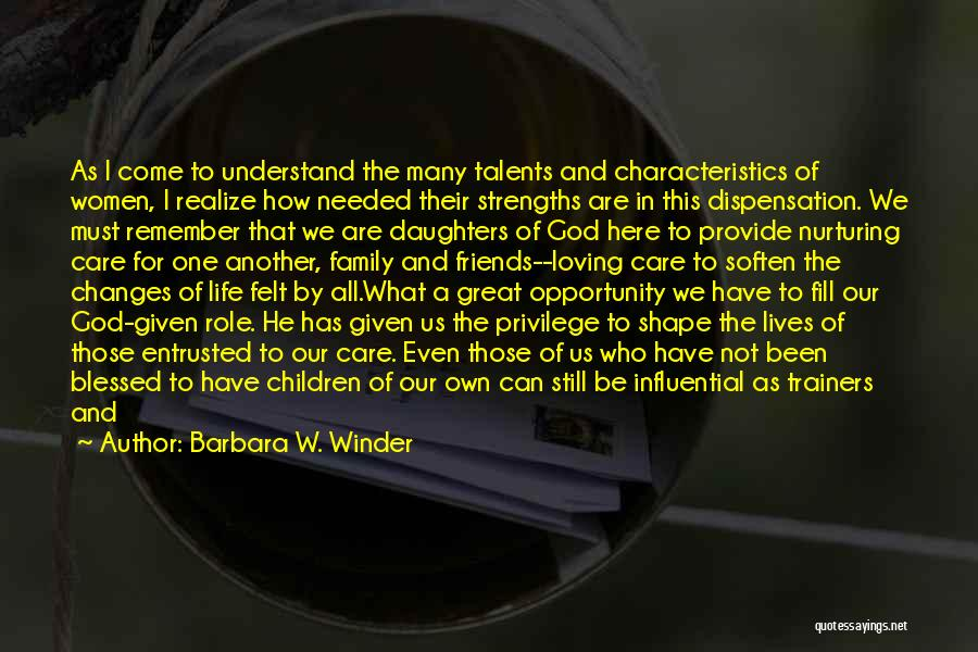 How Great God Is Quotes By Barbara W. Winder