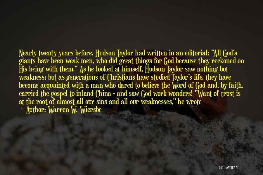 How Great God Is Quotes By Warren W. Wiersbe