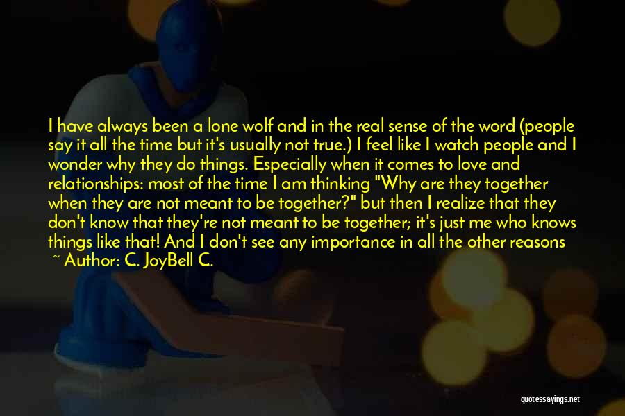 How I Feel When I See You Quotes By C. JoyBell C.