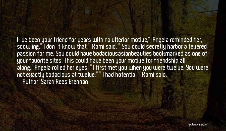 How I Met My Best Friend Quotes By Sarah Rees Brennan
