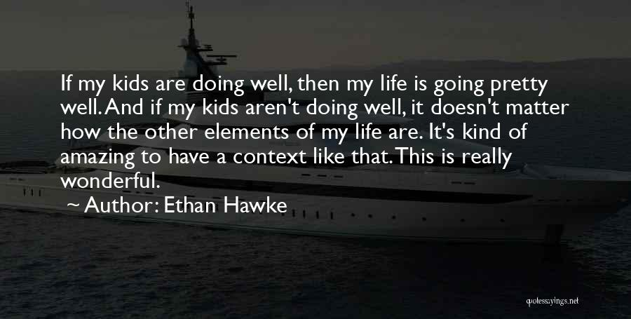 How Life Is Amazing Quotes By Ethan Hawke