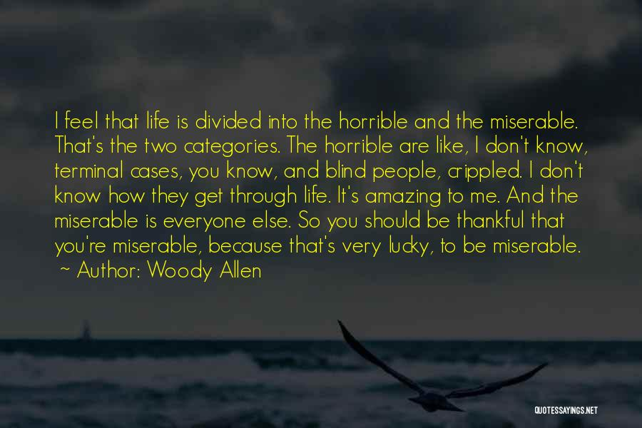 How Life Is Amazing Quotes By Woody Allen